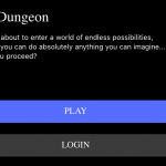 AI Dungeon Welcome Screen